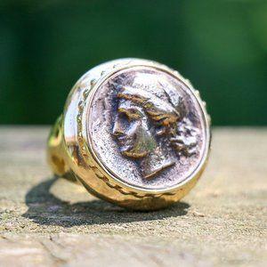 Technibond Bronze Coin Ring